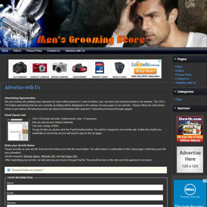 Men s Grooming Store Expert Affiliate Website Business For Sale free Domain
