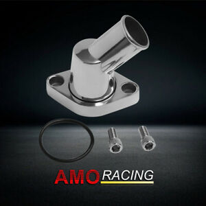 Polished Aluminum 45 Swivel Water Neck Fit Sbc Bbc Chevy Thermostat Housing