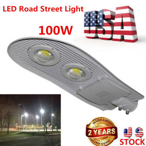 100w Led Street Road Outdoor Yard Flood Light Active High Power White Us Ship