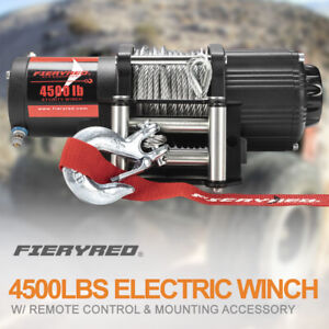 Electric Winch 4500lbs Steel Cable Recovery W Remote Control For Atv Ute Boat