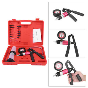 Car Auto Hand Held Vacuum Pump And Pressure Pump Tester Tool Brake Bleeder Kit