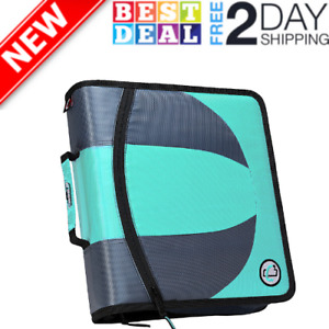 Dual 2 In 1 Zipper D ring Binder 2 Sets Of 1 5 Inch Rings With Pencil Pouch Mint