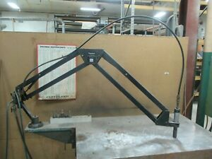 Used Flexarm Pneumatic Tapping Arm 9 16 Capacity 5 Tap Holders On A Bench dp