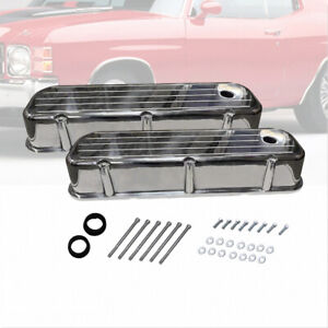 Bbc Big Block Chevy Tall Ball Milled Polished Valve Covers 396 427 454 502 Tall