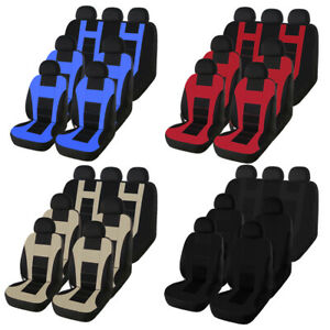 7 Seats Car Seat Cover Front Rear Head Rests Universal For Mpv Busines