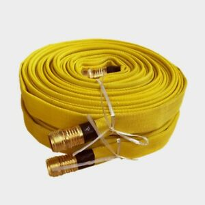 Pack Of 2 Fire Hose 3 4in x 25 Ft Yellow 250 Psi