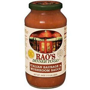 Rao s Specialty Food Pasta Sauce sausage Mshr 24 Oz Pack Of 6