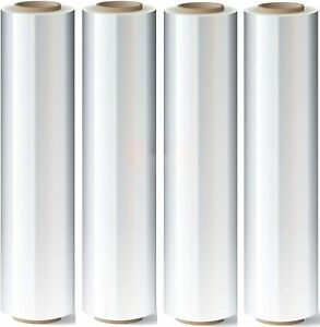 Stretch Wrap 18 x 1200 Roll 80 Gauge Thick 28 Lbs Per Case 4 Pack