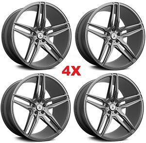 22 Graphite Anthracite Wheels Rims 5x120 Asanti Lexani Forgiato Range