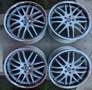 22 Silver Wheels Rims 5x120 Asanti Lexani Forgiato
