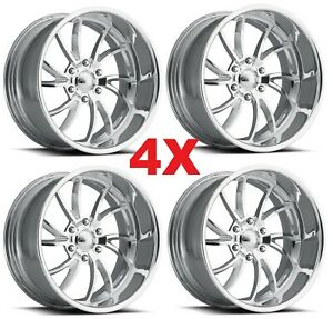 20 Pro Wheels Twisted Ss 6 Set Of 4 Billet Rims Billet Dub Us Mags