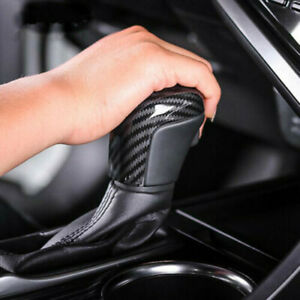 Carbon Fiber Style Abs Gear Shift Knob Cover Trim For Toyota Camry 2018 2019