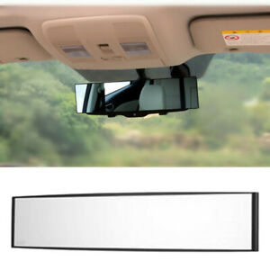 Universal 270mm Wide Angle Flat Clear Lens Anti Glare Clip On Rear View Mirror