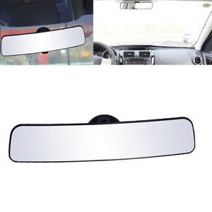 Car Universal Panoramic Rearview Mirror Wide Angle Rear View Mirror With Suction