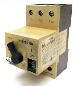 Siemens Electric 3ve3 000 8la00 Motor Starter Switch 8 10a 600vac Tested