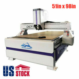 Us Stock 51 X 98 Ad Woodworking Cnc Router Routing Machine 3kw Spindle