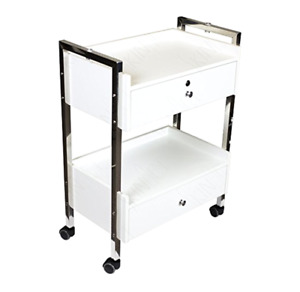 Dental Medical Mobile Utility Cabinet Cart steel Frame