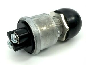 Mvp Push Button Momentary Start Switch 12v 35 Amp With Rubber Cap Horn Engine