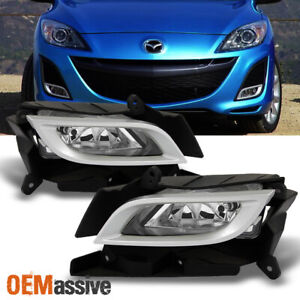 Fit 2010 2011 Mazda 3 Mazda Sedan 4 5dr Fog Lights Lamps W Switch Bezel L R