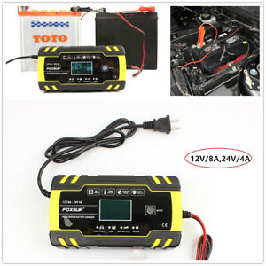 12v 24v Automotive Smart Battery Charger maintainer For Car Truck Motorcycle