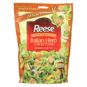 Reese Whole Grain Croutons Italian Herb Case Of 12 5 Oz