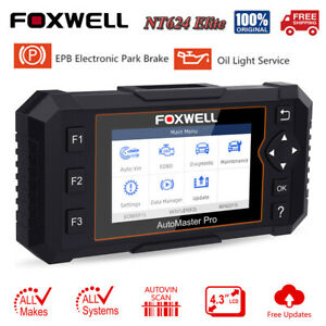 Foxwell Nt624 Elite Obd2 Full System Diagnostic Scanner Tool Abs Srs Oil Reset