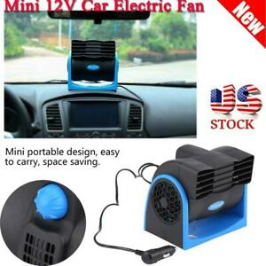 Universal Car 12v Mini Electric Fan Adjustable Speed Silent Air Fan Portable Us