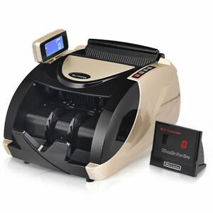 Bill Counter Money Cash Currency Counter Automatic Machine Counterfeit Detector