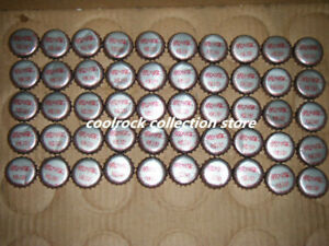 lot of 50 coca cola bottle caps from China used (silver colour)