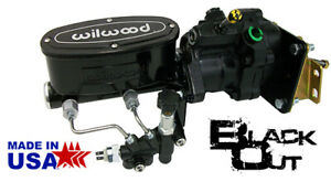 Black Out 1967 69 Chevy Camaro Wilwood Hydro boost Power Brake Booster Kit