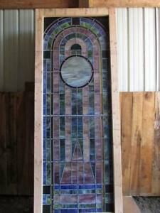 Quantity 2 Stained Glass Windows Cathedral 36 Inches Wide By 92 Inches Tall