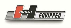 Hurst Shifters Emblem Plastic Chrome Hurst Equipped Adhesive Back Universal Ea