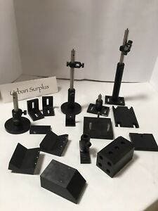 lot Of 16 Thorlabs Newport Optical Mounts Posts Bases Clamps Angle Brackets
