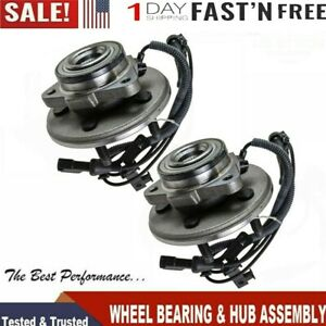 2pc Wheel Hub Bearing Assembly Front Pair Set For Mountaineer Explorer 2006 10