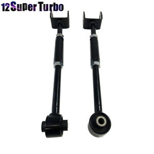 2pcs Set Black Fits 08 13 Accord 09 13 Acura Tl Tsx Rear Camber Arm Kit