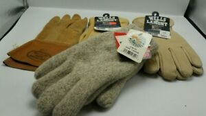 Lot Of 4 Lg Winter Work Insulated Leather Gloves Large Thinsulate Lined Variety