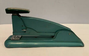 Vintage Swingline No 4 Green Speed Stapler Art Deco Office Desk Accessory Rare