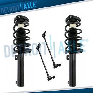 2 Front Struts W coil Spring 2 Sway Bar Link Ends For Vw Beetle Eos Golf Jetta