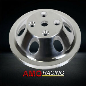 Aluminum Water Pump Pulley 1 Groove Long Water Pump Fit Sbc Chevy 327 305 350