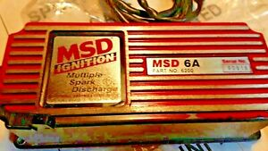 Msd 6a 6200 Ignition Box Multi Spark Discharge Works Great