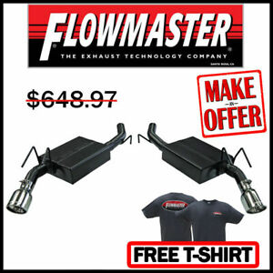 Flowmaster 817483 10 15 Chevy Camaro 3 6l V6 2 5 409s Axle back Exhaust System