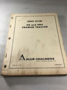 Allis Chalmers H4 Hd4 Crawler Dozer Parts Catalog Manual
