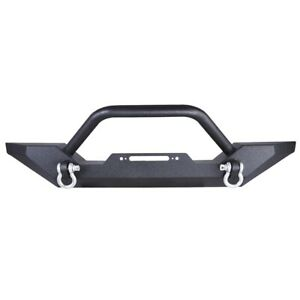 Front Bumper With D Rings Winch Plate For Jeep Wrangler Tj Yj 1986 2005 Us