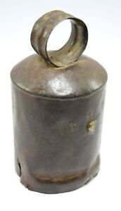 Old Indian Vintage Collectible Rustic Iron Cow Bell Music Farm Decor I9 130 Us
