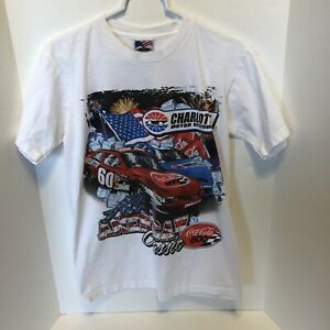 Charlotte All American Classic Coca Cola 600 Racing  White T-shirt  Small  USA