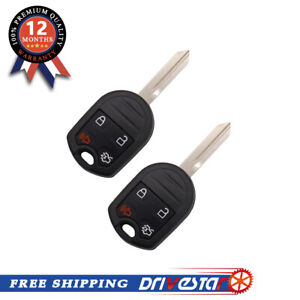 2pcs A Set Keyless Entry Remote Car Key Replacement For Ford F150 F250 F350