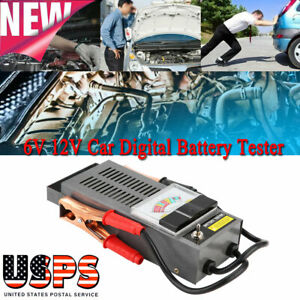 Car Digital Battery Tester Analyzer Load Volt Charging System Test 6 12v 1000cca
