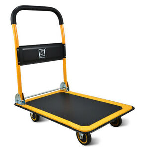 Push Cart Dolly Moving Platform Hand Truck Foldable 660lb Weight Capacity