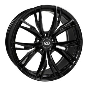 18x8 40 Enkei Onx 5x114 3 Gloss Black Rims Fits Veloster Mazda Speed 3