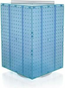 701414 blu Pegboard 4 sided Revolving Counter Display Blue Color With Mix Pegs